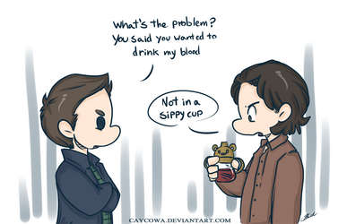 Supernatural - Sippy Cup by caycowa