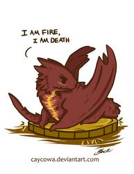 The Hobbit - Chibi Smaug I am Fire, I am Death by caycowa
