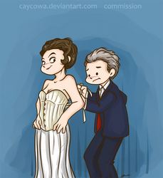 Commission - Doctor Who - Missy and 12 by caycowa