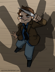Commission - SPN - Tiny Dean by caycowa