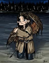 Hobbit - Baby Bird Bard by caycowa