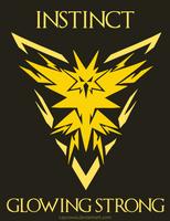 Pokemon Go - Team Instinct - Glowing Strong by caycowa