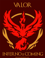 Pokemon Go - Team Valor - Inferno is Coming by caycowa