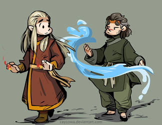 Hobbit ATLA - Fire and Water for TheMirkyKing by caycowa