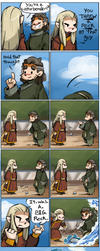 Hobbit ATLA -Fire and Water Comic for TheMirkyKing by caycowa