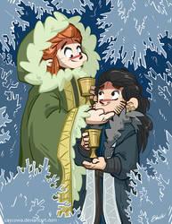 Hobbit - Snowflake Cave (Tauriel/Fem!Kili) by caycowa