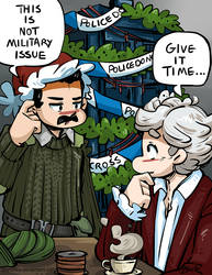Doctor Who - Christmas Future for LadySugarquill by caycowa