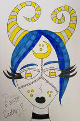 Horned Lady of the Moon by thegothickitty33