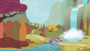 Background Scenery Autumn Valley by TimeImpact