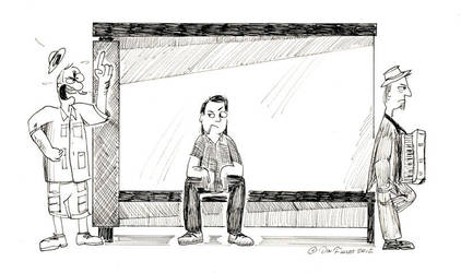 At The Bus Stop by Don-O