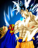 Goku vs. Superman by SouthernDesigner