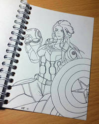Girl Captain America by Latchunga