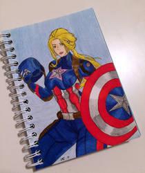 Captain america girl  by Latchunga