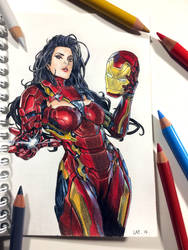 Ironwoman Color pencil by Latchunga