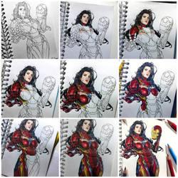 Iron Woman Progress by Latchunga