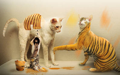 When the cats became tigers by Hellle