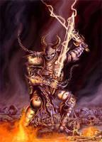 Demon with Swords Fantasy Art by rauligonzalez
