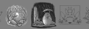 Totoro Studies by raposavyk