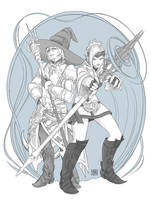 Commission: Zagi'zi and Melisande by raposavyk
