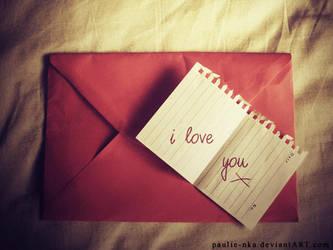 i love you X by paulie-nka