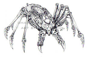 Tarantulas lineart by KaijuSamurai