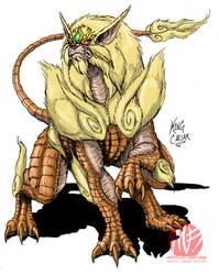 Godzilla Neo - KING CAESAR by KaijuSamurai