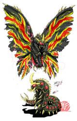 Godzilla Neo - BATTRA by KaijuSamurai