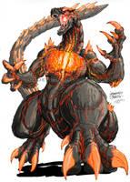Godzilla Neo- BURNING GODZILLA by KaijuSamurai