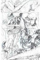 Primal vs Megatron by KaijuSamurai