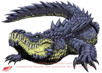 Giant Alligator by KaijuSamurai
