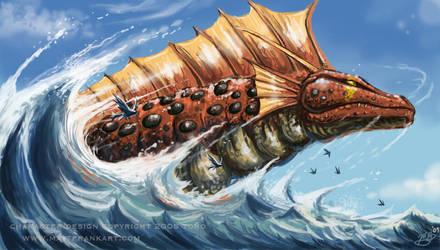 Titanosaurus Rising by KaijuSamurai