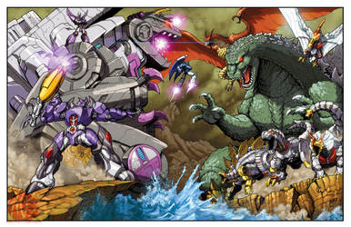 Assault on Monster Island by KaijuSamurai