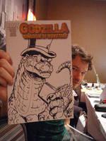 Godzilla sketch cover MONOCLE by KaijuSamurai