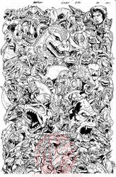 G-Fan issue 100 lines by KaijuSamurai