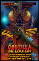 Godzilla vs Megalon poster by KaijuSamurai