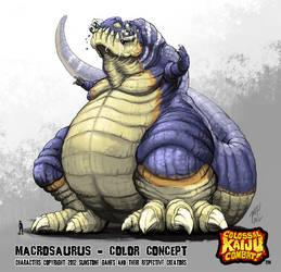 Kaiju Combat - Macrosaurus by KaijuSamurai