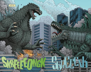 Godzilla: ROE issue 2 - pages 2-3 by KaijuSamurai