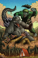 Godzilla Rulers of Earth issue 10 cover by KaijuSamurai