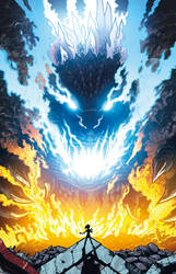 Godzilla Rulers of Earth issue 13 - cover by KaijuSamurai