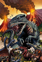 Godzilla Rulers of Earth #22 cover by KaijuSamurai