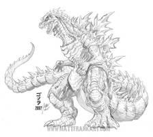 Godzilla 2016 Concept Sketch by KaijuSamurai