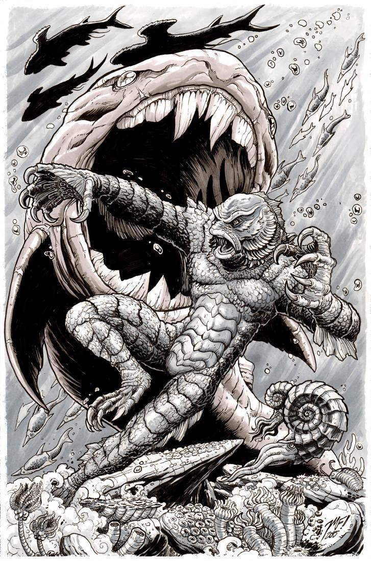 Creature From the Black Lagoon Monsterama print by KaijuSamurai