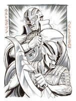 Kaigai Manga Festa - Ultraman Zero and Ultraseven by KaijuSamurai