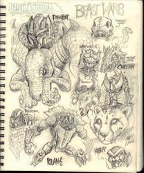 Beast Wars sketches by KaijuSamurai