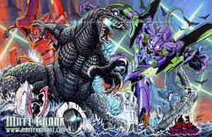 Godzilla VS Evangelion by KaijuSamurai