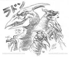 Rodan Anniversary 1956-2016 by KaijuSamurai