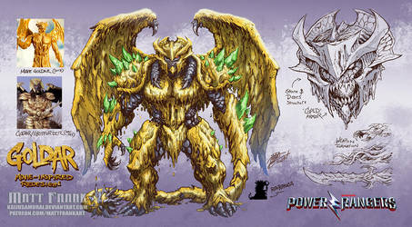 Goldar redesign - Power Rangers by KaijuSamurai