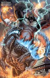 Kong vs Godzilla by KaijuSamurai