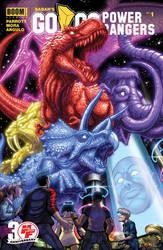 GO GO POWER RANGERS Matt Frank Variant Cover #1 by KaijuSamurai