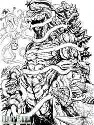 A Merry Kaiju Christmas by KaijuSamurai